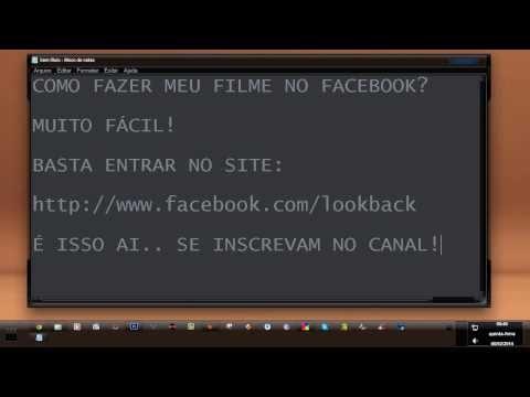Como Fazer Meu Filme No Facebook?