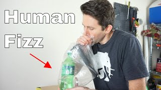 Is it Possible to Carbonate a Soda With Your Own Breath? Amazing Science Experiment!