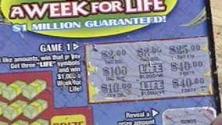 Scratching Off A New $2,win For Life,Pa. Lottery Ticket