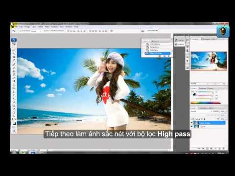 Làm thế nào để ghép ảnh vào nền bằng Photoshop