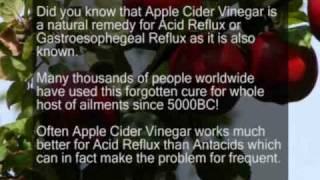 Apple Cider Vinegar Cure Acid Reflux / Heartburn GERD