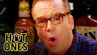 Tom Arnold Melts Down While Eating Spicy Wings   Hot Ones