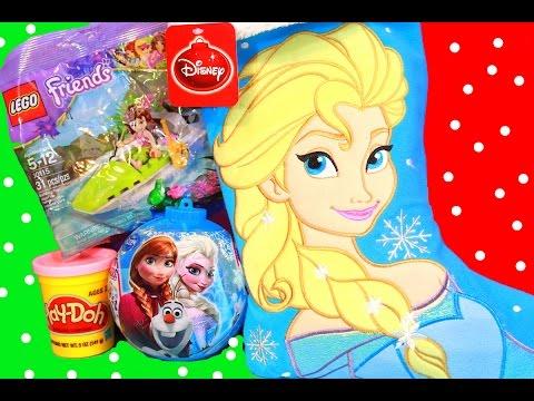 Surprise Christmas Stocking Disney Frozen Elsa Play-Doh Stuffers Lego Friends Princess Girls Toys