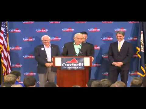Ron Paul Speaks At Ken Cuccinelli Rally