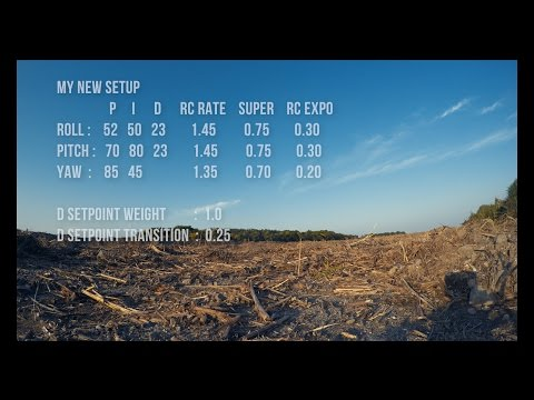 Betaflight 3.1.7 FPV FREESTYLE SPRacing F3 PIDs Rates TEST GoPro HERO4