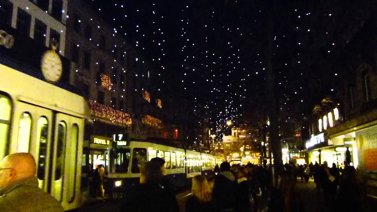 Zurich Christmas lights 2012 - YouTube