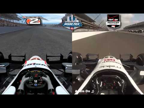 rFactor 2 vs Real Life - Dallara DW12 Indycar @ Indianapolis Motor Speedway Road Course