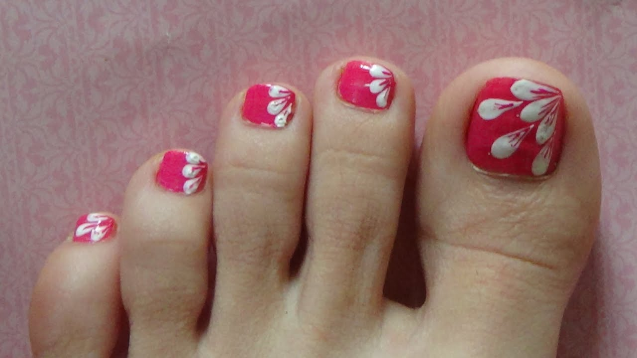 Toe Nail Art Designs Step By Step Easy Simple Toe Nail Designs White