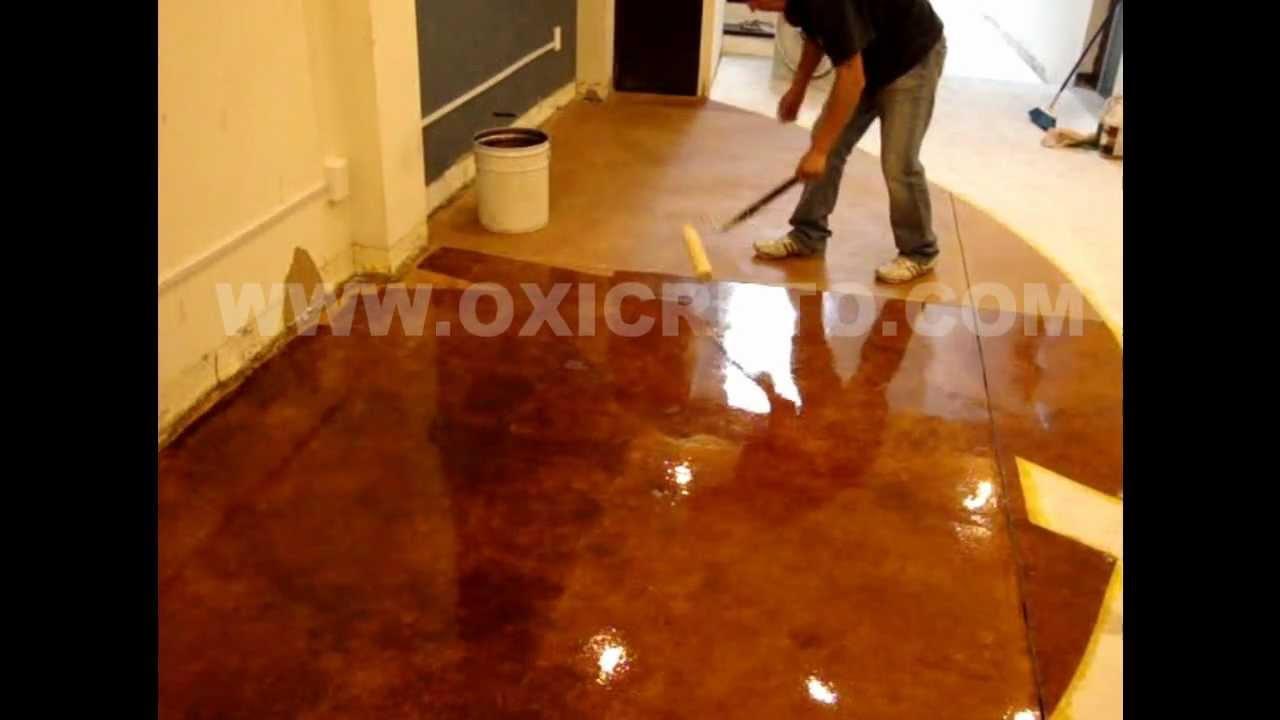 Concreto oxidado oxicreto youtube Pintura para piso de cemento comex