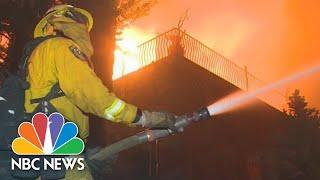 WATCH: Video Shows Camp Fire Burning Through Paradise, California   NBC News