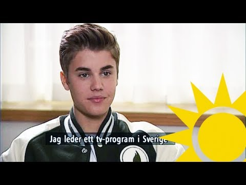 Justin Bieber Interview with Tilde de Paula - Nyhetsmorgon (TV4)
