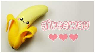 Polymer Clay Kawaii Banana TUTORIAL + GIVEAWAY CLOSED