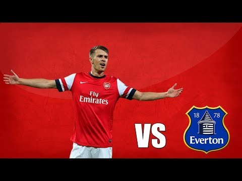 Aaron Ramsey Comeback vs Everton 2014-04-06
