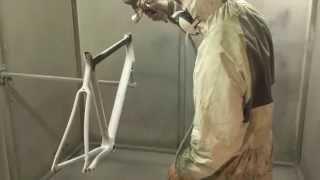Pintando la bicicleta