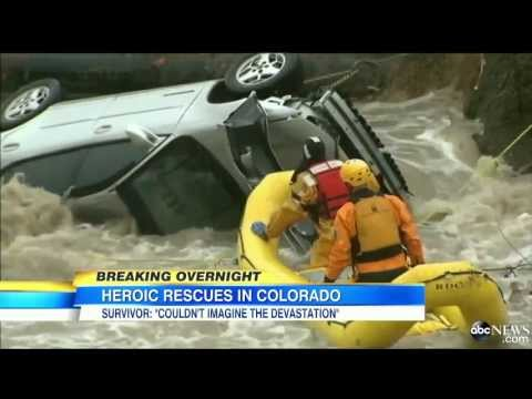 Dramatic! FOOTAGE - Tsunami FLOODS Across COLORADO / N MEXICO ABC, APP