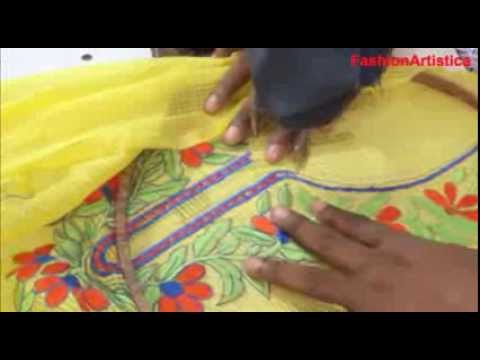 How To Sew Cut Salwar Kameez-Designer Kameej MAKING Method/Simple Way