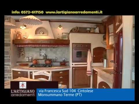 Cucine in muratura e country l 39 artigiano arredamenti youtube for Rudiana arredamenti