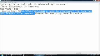 Advanced System Care Serial Code (STILL WORKING)