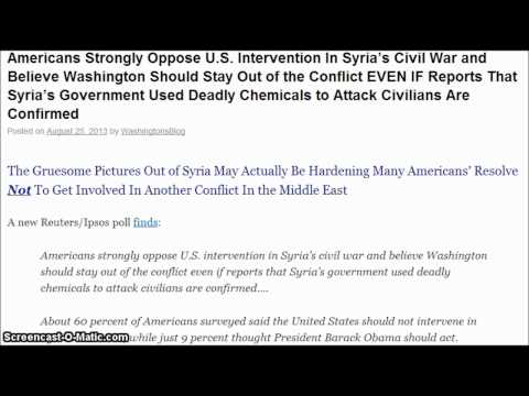 Syrian News-Americans strongly oppose U.S. intervention in Syrias civil war. New HD 720p
