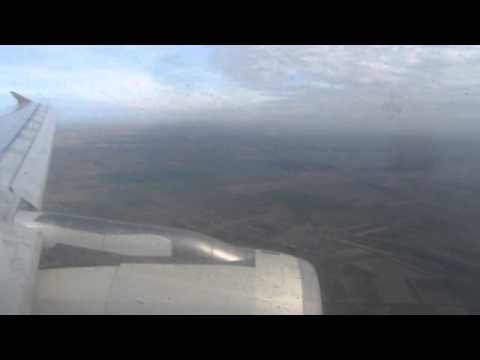 Etihad Airways A319 Landing at Belgrade, Serbia, 4th November 2013
