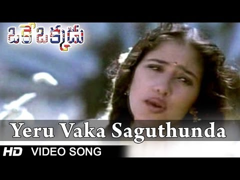 Oke Okkadu Movie | Yeru Vaka Saguthundaga Video Song | Arjun, Manisha Koirala