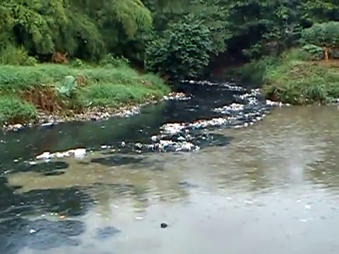 Pencemaran limbah dari Kali Baru Jalan Raya Bogor yang bermuara di Ciliwung Cililitan.