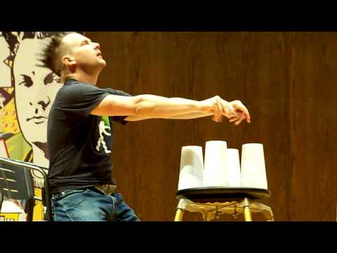Brian Brushwood - Spinning Cups routine