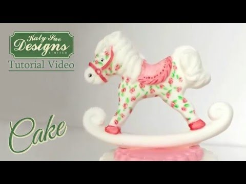 Katy Sue Sugar Buttons ROCKING HORSE silicone mould