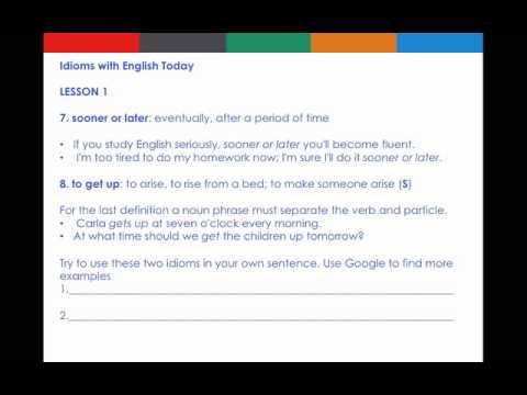 English Today Jakarta Idioms Lesson