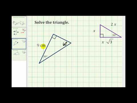 Examples: Solve a 30-60 Right Triangle