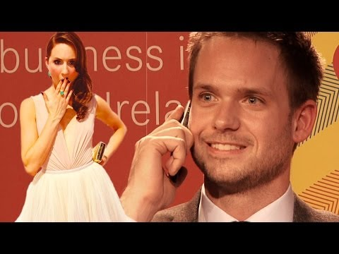 Patrick J Adams (Suits) takes unexpected call from girlfriend Troian Bellisario at UCD, Dublin