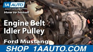 How To Install Replace Engine Belt Idler Pulley Ford
