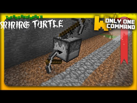 Computercraft's turtle in vanilla minecraft with ONLY ONE COMMAND BLOCK | Item sorting feature