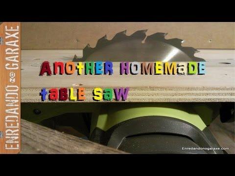 Nueva sierra de mesa casera con la sierra circular. Make a homemade table saw with a circular saw.
