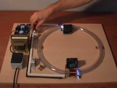 Acelerador de partículas, maqueta educativa.