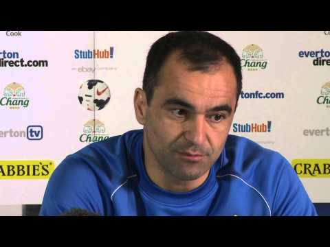 Roberto Martinez's pre-West Brom press conference
