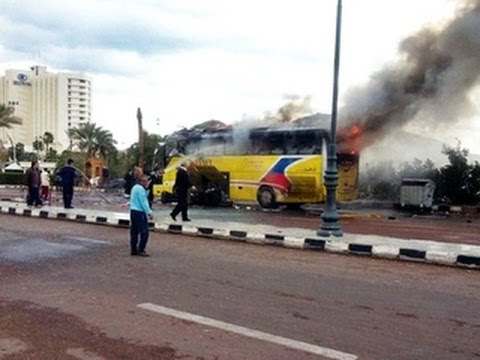 Deadly tour bus explosion in Egypt's Sinai region