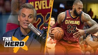 Colin on LeBron's dominance as point guard, Kyrie's early struggles in Boston | THE HERD