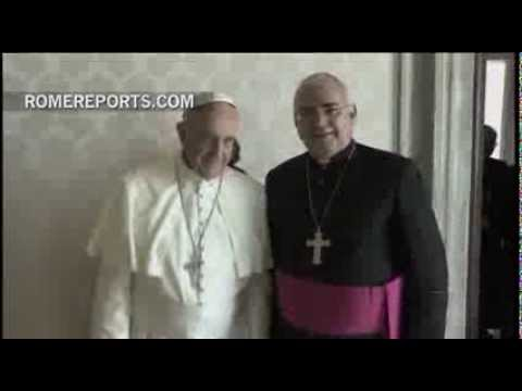 Pope Francis meets with the leaders of the Venezuelan bishops' conference