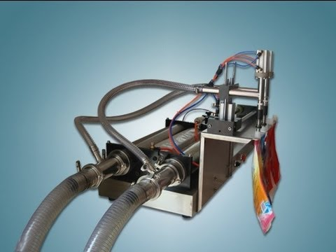 semi automatic one head stand up spout liquid filling machine pneumatic system drinking pouch filler
