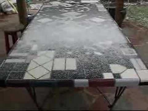 mosaic table top freeform youtube. Black Bedroom Furniture Sets. Home Design Ideas