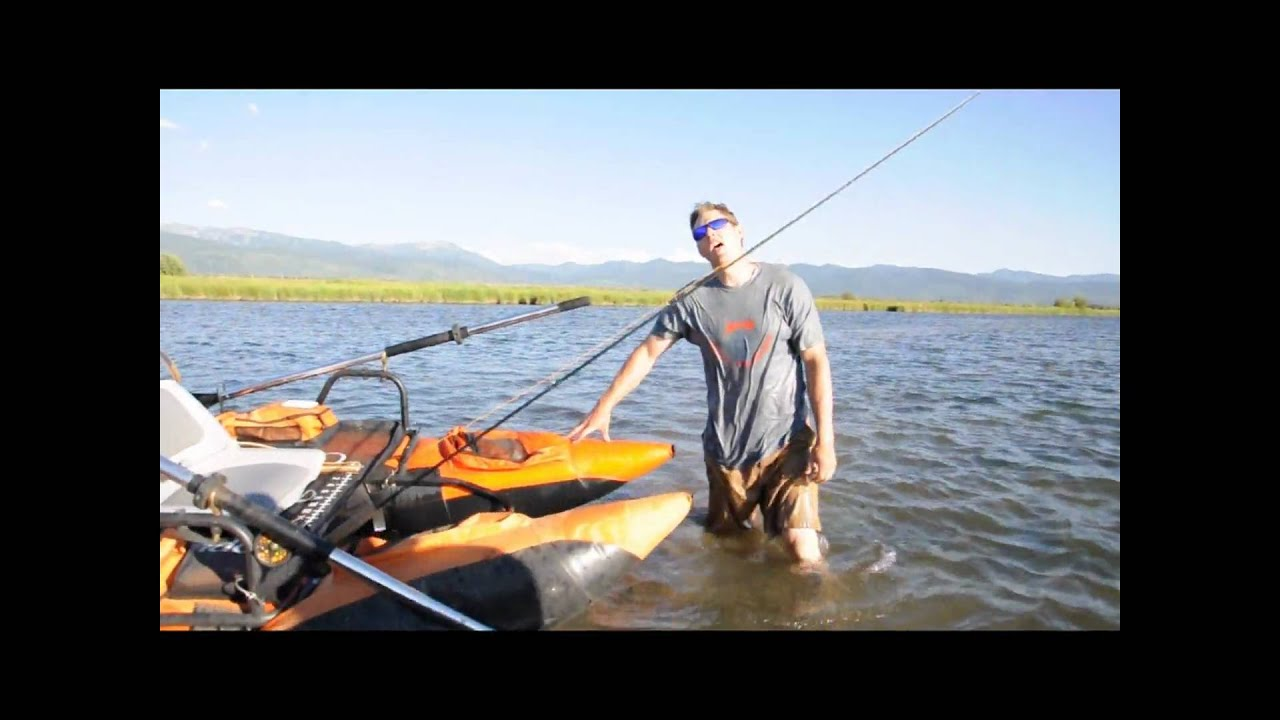 Fly fishing frenzy jake butikofer 39 s flat pontoon boat for Fly fishing pontoon