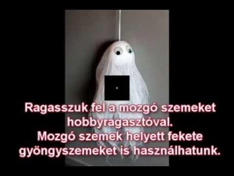 Kreatív Halloween dekoráció: Halloween szellemdísz