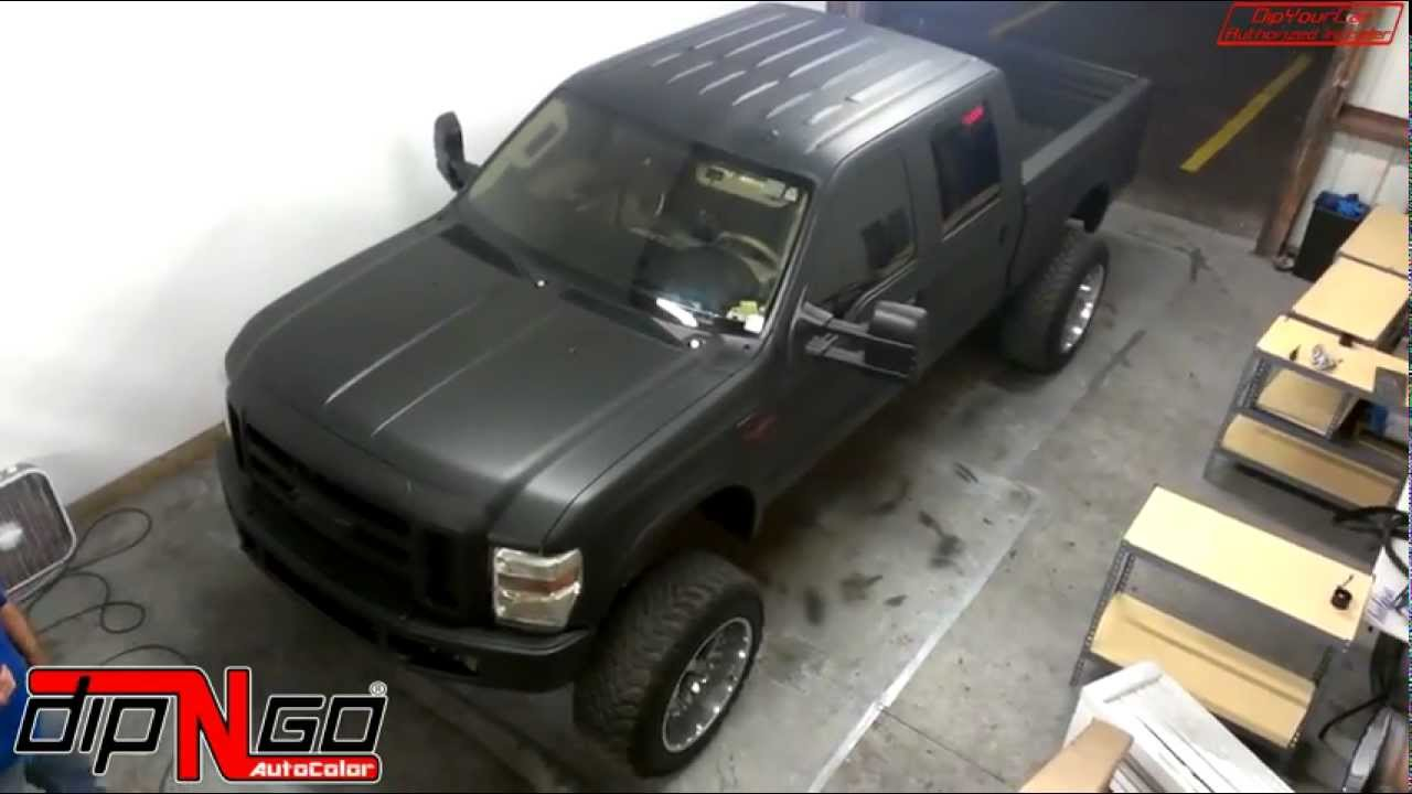 Ford F150 Lifted Flat Black Wrap Youtube