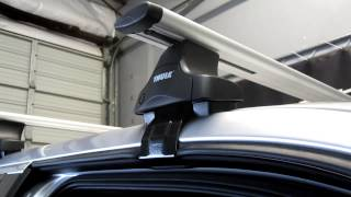 Ford F-150 Super Crew Cab With Thule 480R AeroBlade Roof