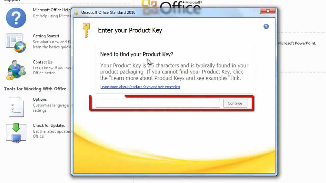 MS Office 2010 Home & Business serial key or number
