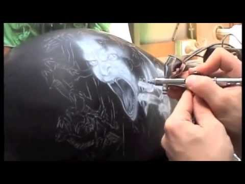 Airbrushed Screaming Medusa Harley Tank, Step by Step Part : 1
