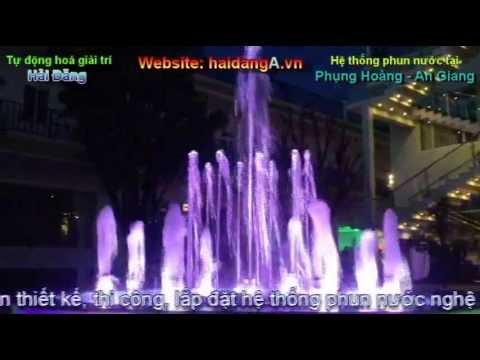 Hệ thống nhạc nước, đài phun nước nghệ thuật tại Phụng Hoàng - An Giang