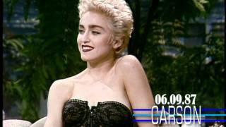 Johnny Carson: Madonna First Talk Show Appearance, 1987