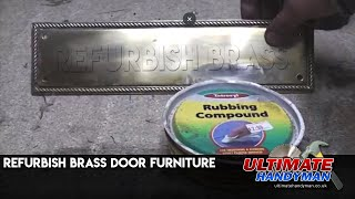 How to polish brass door furniture